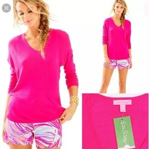 NWT Lilly Pulitzer Stasia Sweater Magenta Size M
